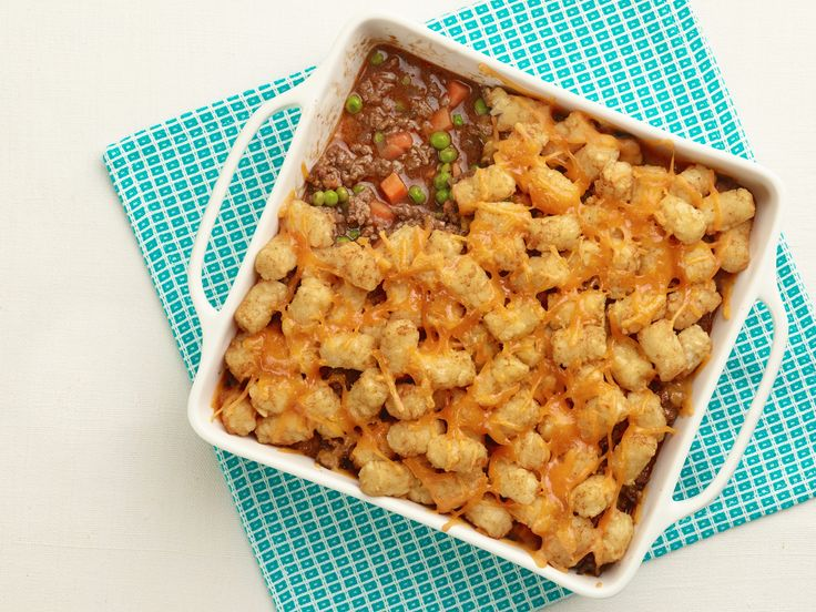 Tip: Use potato tots as a crispy topping for Shepherd's Pie!