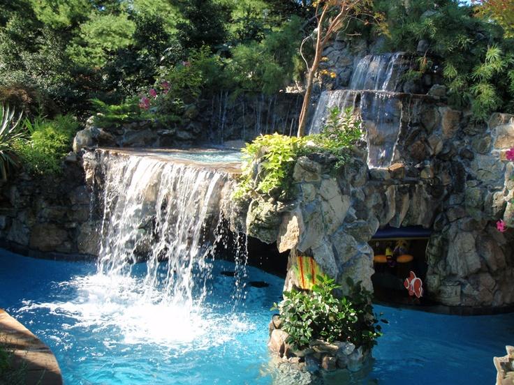 Custom pool design grotto Pools Pinterest