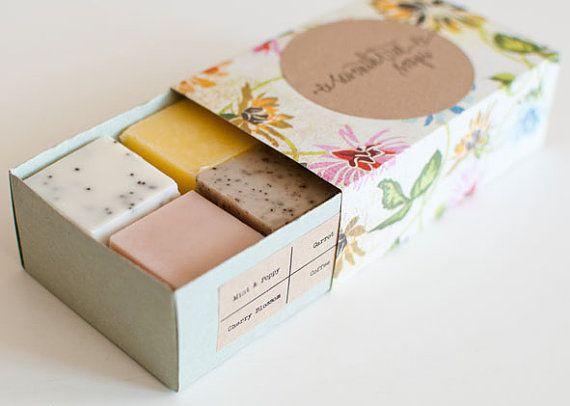 SAMPLE SET - Mint, Carrot, Lemongrass, Cherry Blossom, Chai Vanilla, Rose & Chamomile - Natural, Handmade, Vegan via Etsy