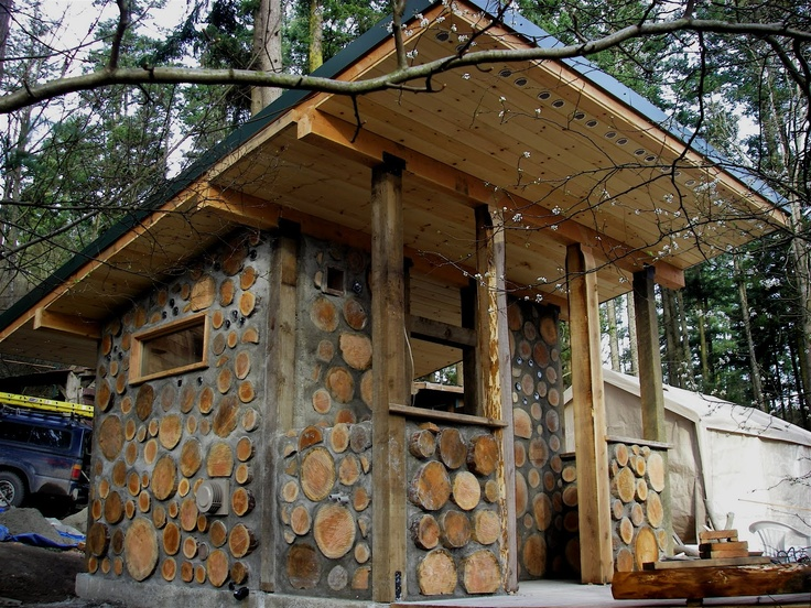 A cordwood sauna wow living in the sticks pinterest for Diy sauna wood