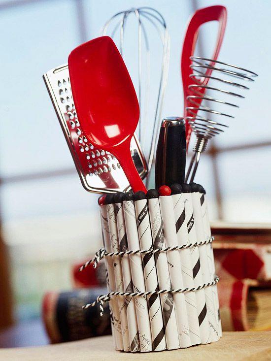 Simple crafts under 10 - Unique kitchen utensil holder ...