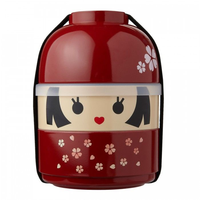 japanese lunch box kokeshi bento school lunch and kid food pinte. Black Bedroom Furniture Sets. Home Design Ideas
