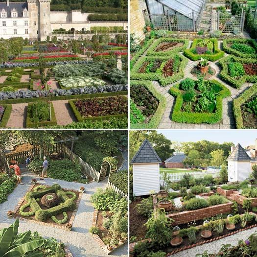 Potager gardens potager gardens pinterest for Kitchen garden designs