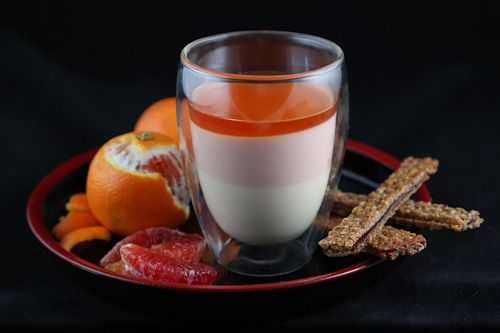 Vanilla Bean And Blood Orange Panna Cotta (naturally ...