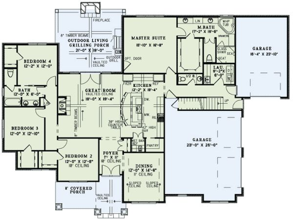 Floor plan dream home pinterest for Great room floor plans