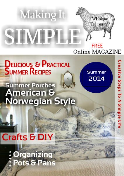 Creative Steps to a Siimple Life EWEnique Treasures Summer Issue June 2014