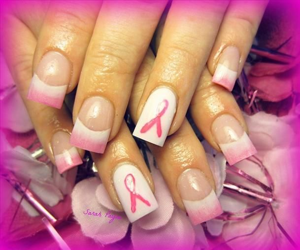 Pink October nails | Nails for October!!!