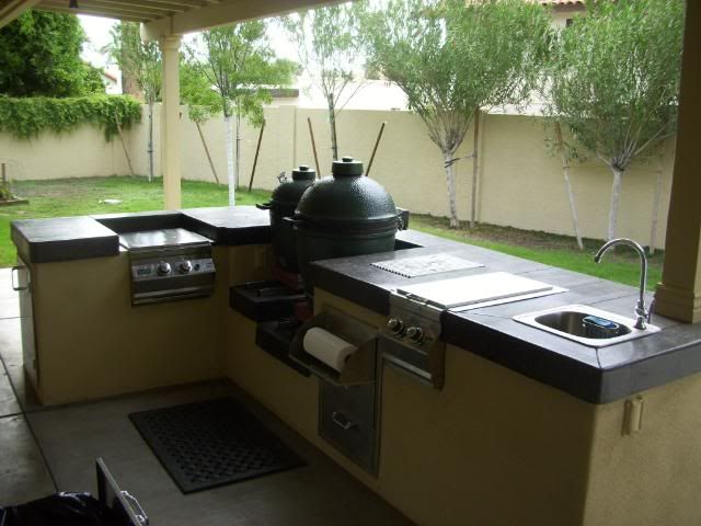 big green egg outdoor kitchen for the home pinterest