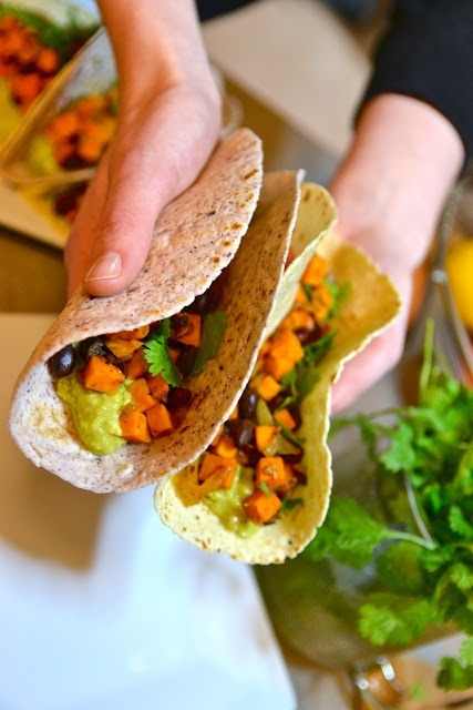 Made these. Chipotle sweet potato, black bean, and guacamole tacos ...