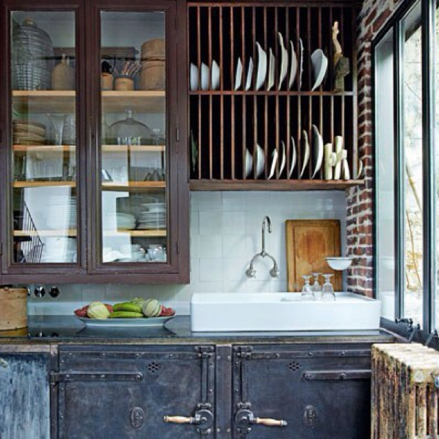 Industrial Rustic Kitchen : Rustic industrial kitchen. Love.  Stuff CeCe likes  Pinterest