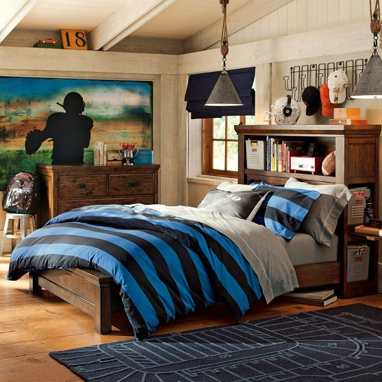 varsity football wall mural pbteen xavier pinterest. Black Bedroom Furniture Sets. Home Design Ideas