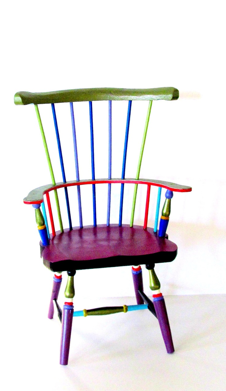 Windsor Style Doll Chair Hand Painted. $98.00, via Etsy.