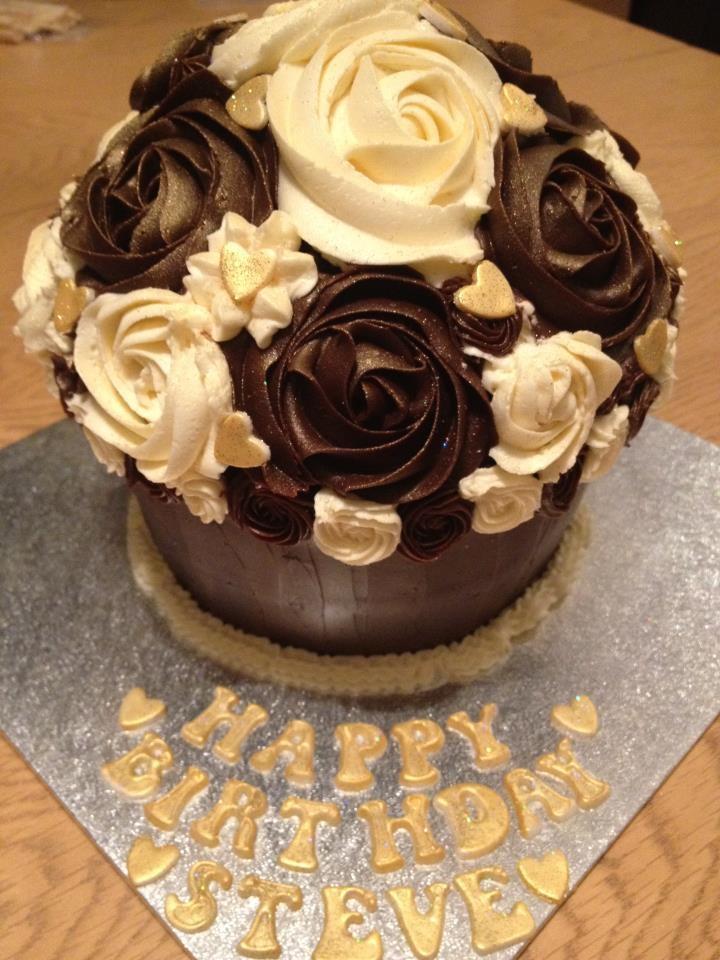 Chocolate fudge cake with chocolate ganache and vanilla butter cream ...