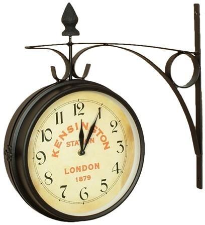 London Kensington Train Station Double Sided Wall Clock