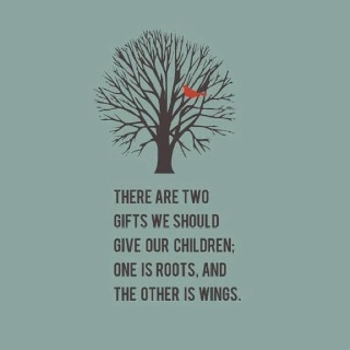 Oh so true. Thanks mom and dad for roots and wings. Gift, Inspiration, Quotes, Roots And Wings, Parent, So True, Childre...
