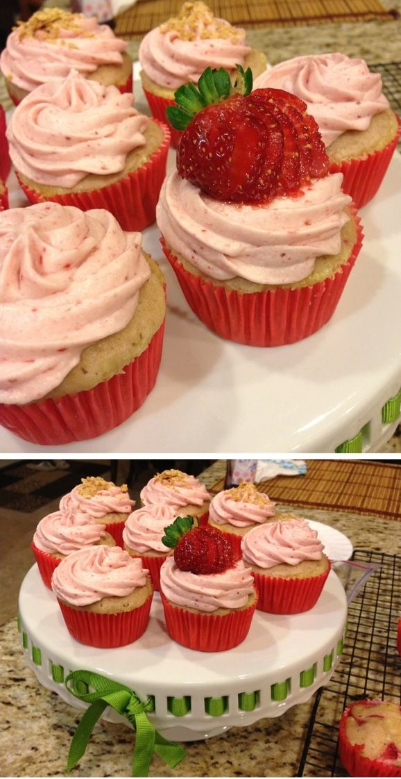 Strawberry Cheesecake Cupcakes | Sweets | Pinterest
