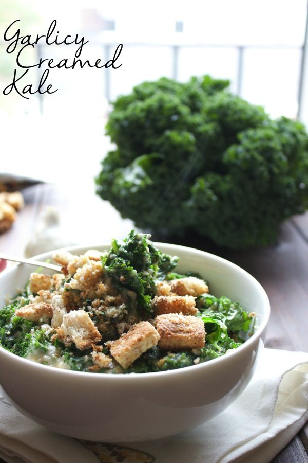 Garlicy Creamed Kale-The Almond Eater