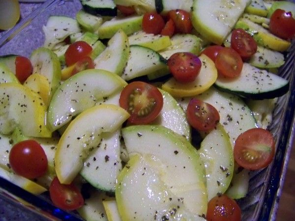 Summer Squash Zucchini Tomato Salad | Salads--Gluten, Dairy & Soy Fre ...