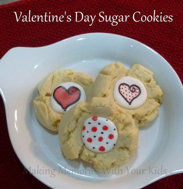 Valentine's Day Sugar Cookies | Recipes - Cookies | Pinterest
