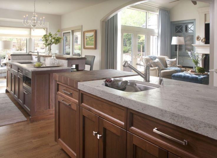 butcher block granite dream kitchen pinterest