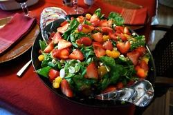 Spinach, Strawberry, Mandarin Orange Salad-- serve with warm bacon ...