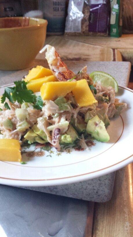 Mango, avocado and crab salad. | Recipes | Pinterest