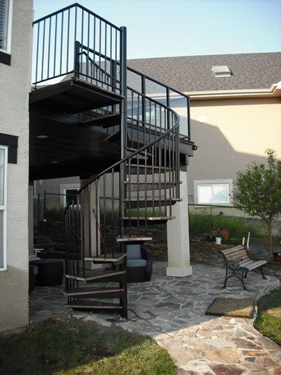 Custom Outdoor Spiral Stair ID Stairs Pinterest