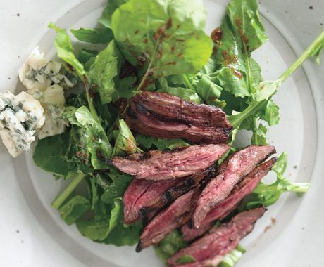 Grilled Skirt Steak and Arugula Salad with Roquefort and Catalina Dre ...