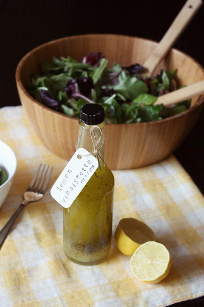 lemon vinaigrette dressing | {DINNER~DRESSINGS} | Pinterest