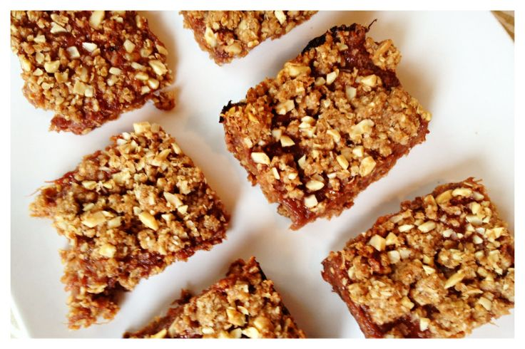 Spring Rhubarb Almond Squares | IPOM | food | Pinterest