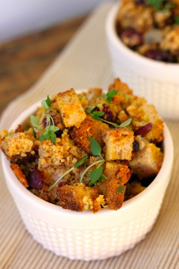 simple herb cornbread stuffing | goin' vegan | Pinterest