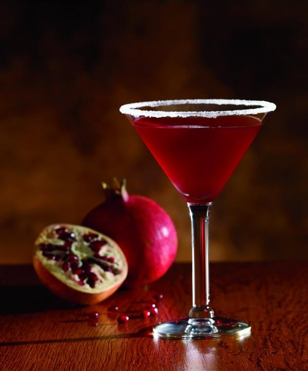 Pomegranate Cosmo - Absolut Mandrin, POM Pomagranate Juice, and Fresh ...