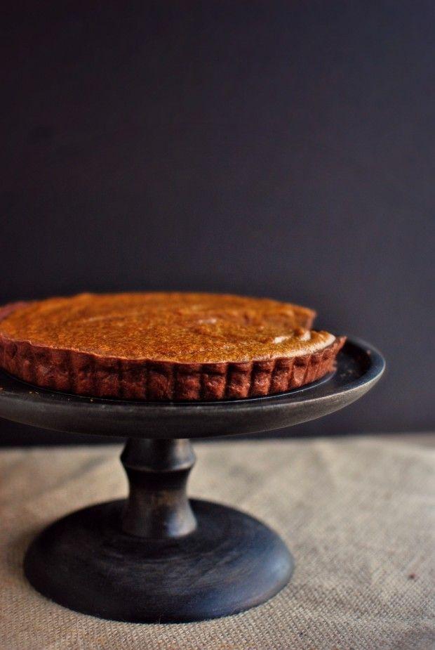 bourbon pumpkin pie tart | pies, tarts & galettes | Pinterest