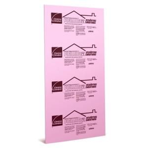 Owens Corning Foamular 1/2 in. x 48 in. x 96 in. Squared Edge Insulating Sheathing-36L at The Home Depot