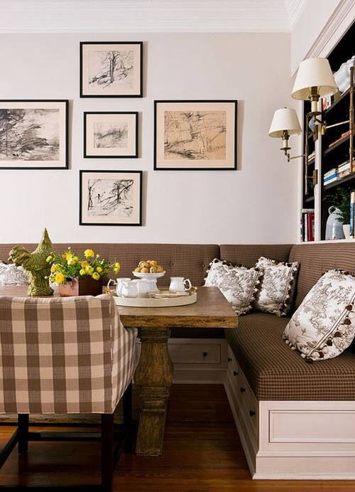 Cozy Nook Warm Colors Kitchens And Storage Pinterest