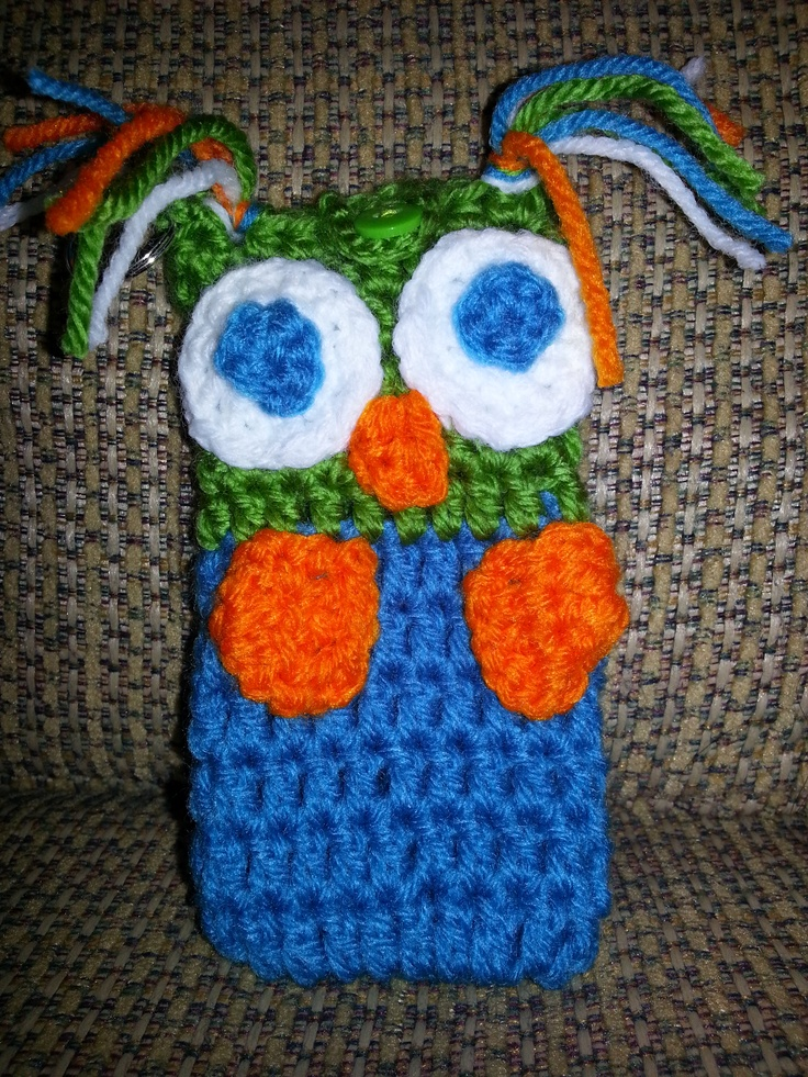 Case Design crochet cell phone case : Owl cell case $6 : crochet cell phone case : Pinterest