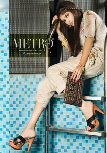 Sajal Ali Represents Clutch Bags & Metro Shoes