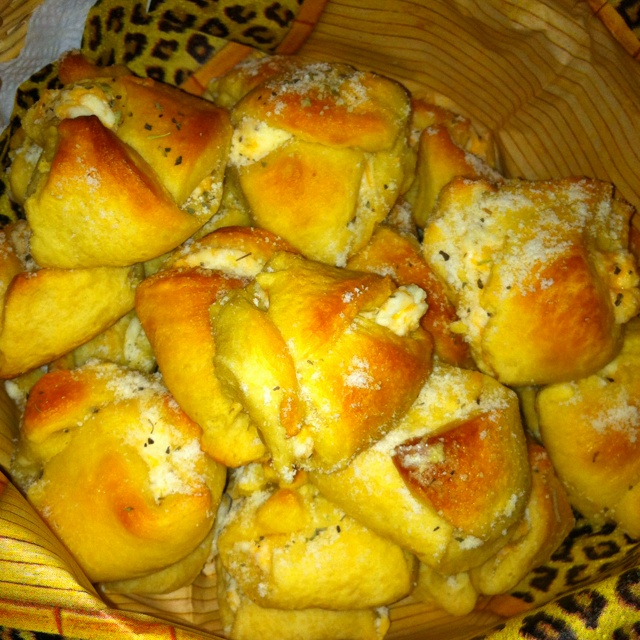 ... crescents into 2 small triangles. Spoon cheese mixture into center of