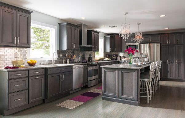 grey kitchen  For the Home  Pinterest