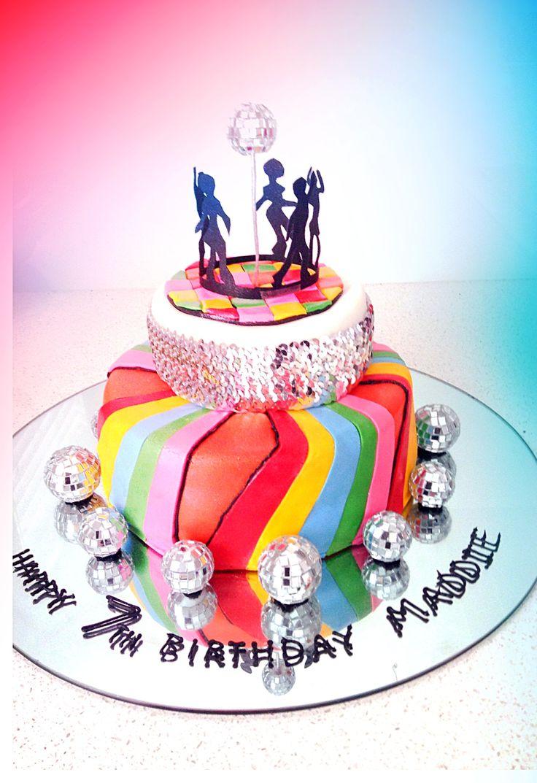 Girls 7th Birthday Disco Cake! Theme - Disco Pinterest
