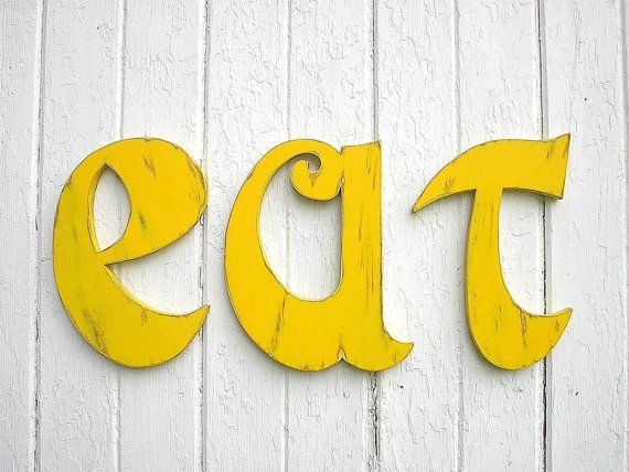 Kitchen Wall Letters