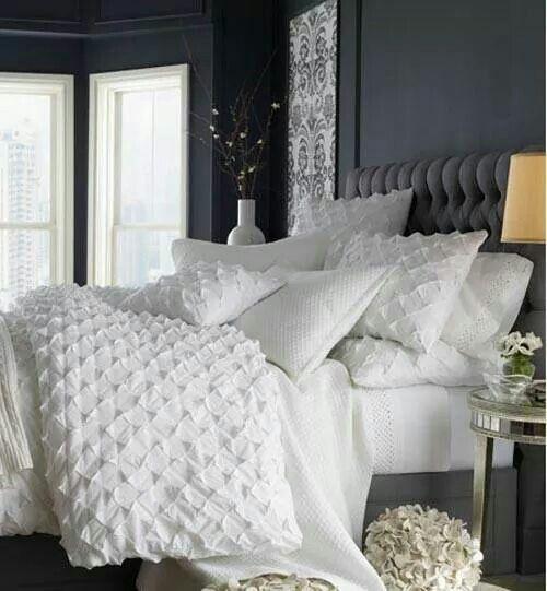white bedding bedrooms pinterest