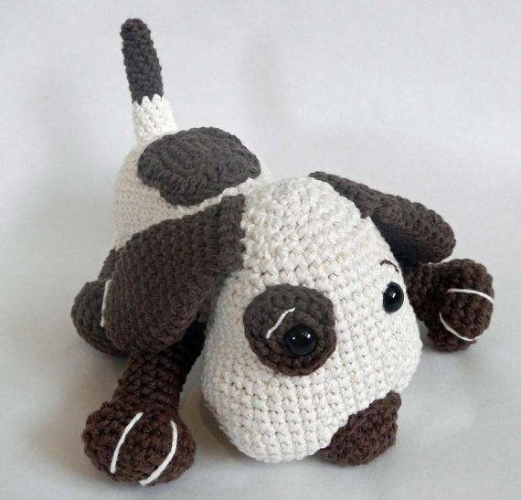 Crochet Patterns Dog Toys : Crochet Toy Pattern for Amigurumi Dog: PDF Crochet Pattern Instant Do ...