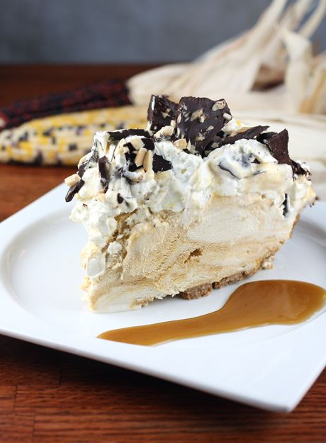 Pumpkin Swirl Ice-Cream Pie with Chocolate-Almond Bark and Toffee ...