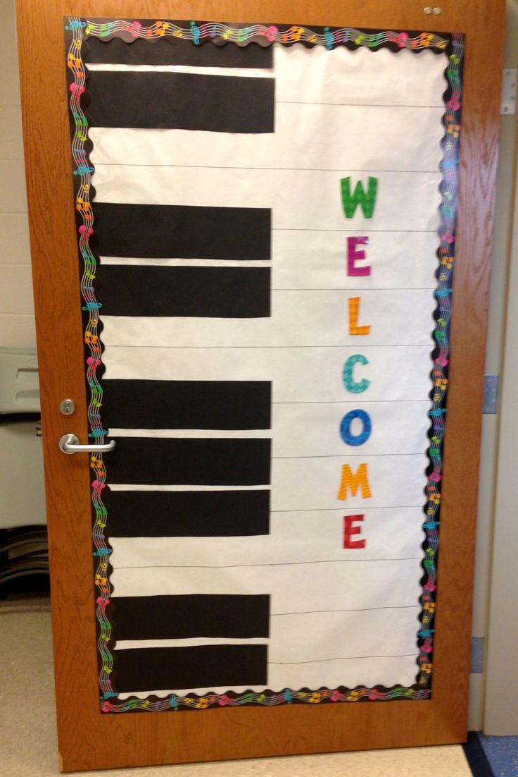 Back to school door decoration elementary music for Back to school door decoration