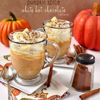 Pumpkin Spice White Hot Chocolate | Food: Drink | Pinterest