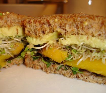 Avocado and Mango Sandwiches With Cilantro-Lime Mayonnaise | Recipe