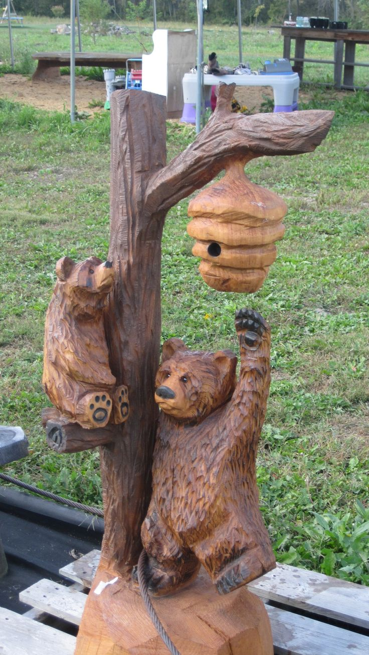 Pin bear chainsaw carving on pinterest
