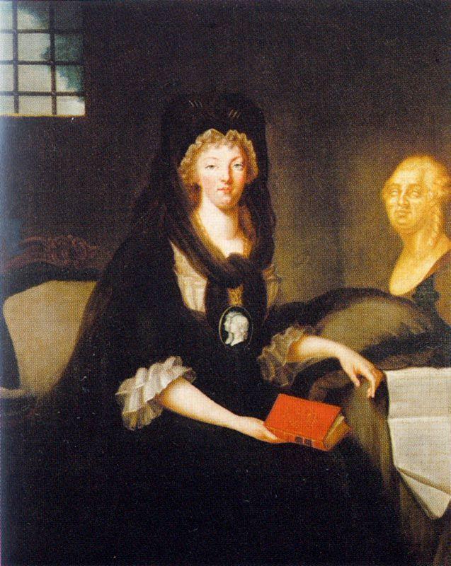 Marie Antoinette Imprisoned in the Conciergerie  The Marquise de Bréhan c. 1793-95