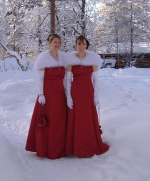 Winter Red Bridesmaid Dresses Goin 39 To The Chapel